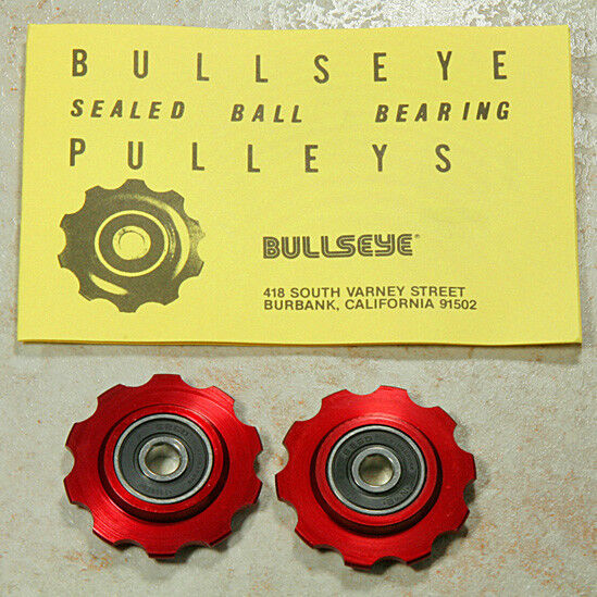 Bullseye Pulleys NOS RED For Vintage Campy Shimano Suntour & Others
