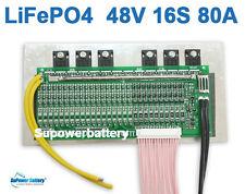 48V 80A LiFePo4 Battery BMS LFP PCM SMT System 16S 16x 3.2V eBike Battery 16x 3V