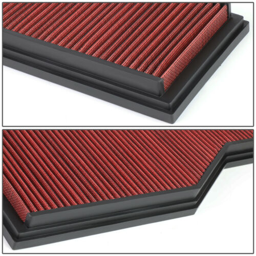 FOR 99-08 PORSCHE 911 3.4//3.6//3.8L WASHABLE DROP-IN AIR FILTER INTAKE PANEL RED