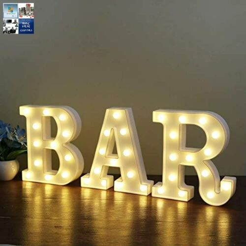 Dream Cubby LED Marquee Sign Letter Lights Light Up Alphabet Letters for Bar Sa