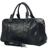 Genuine Leather Man's travel tote duffle gym shoulder bags Carry On Hand Bag