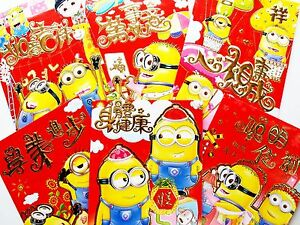 Image of: Gif Image Is Loading 36xdespicablememinionschinesenewyearang Ebay 36x Despicable Me Minions Chinese New Year Ang Pow Money Envelope