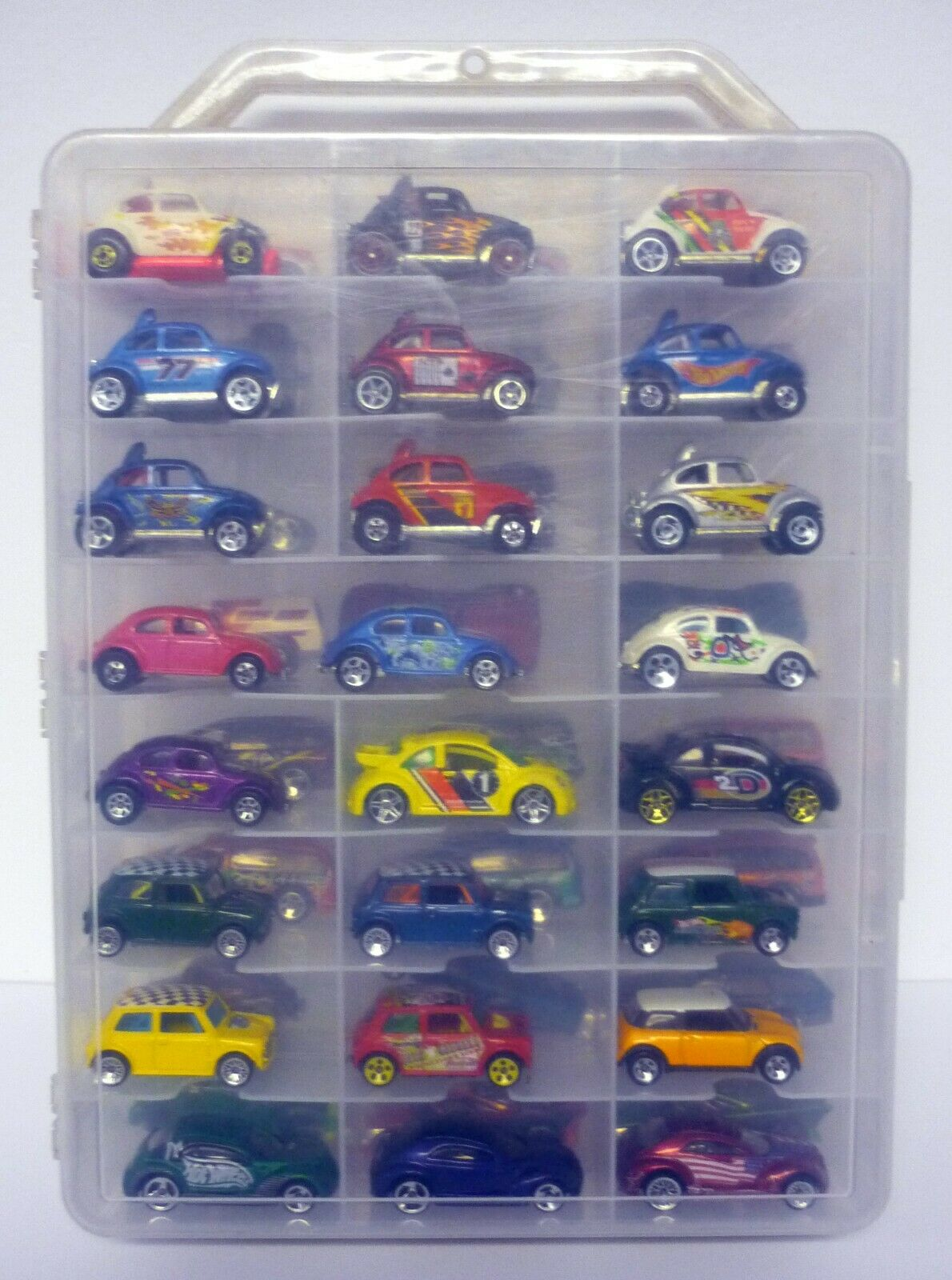 Hot Wheels 48 Estuche Con Coches de coche VW Bug varios coches de fundición