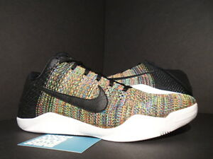 Nike Zoom KOBE XI ELITE LOW FLYKNIT ID MULTICOLOR BLACK WHITE 903710 ... f3f96609b89b