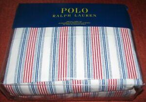 (4) pc POLO-RALPH LAUREN (FULL) Sheet Set (STRIPE) flat,fitted,cases