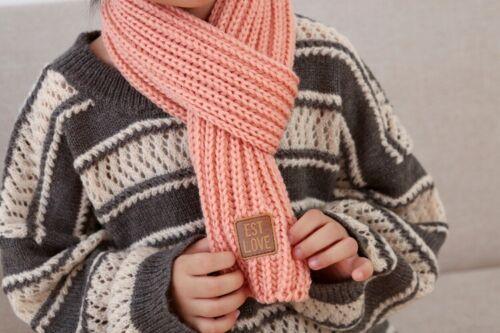 Kinder Winterschal Strickschal Rundschal Junge Mädchen Fleece Warm Mehre Farbe