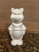 Winnie The Pooh Disney Ceramic Bisque Figurine Rare Disney Vintage 9 Tall