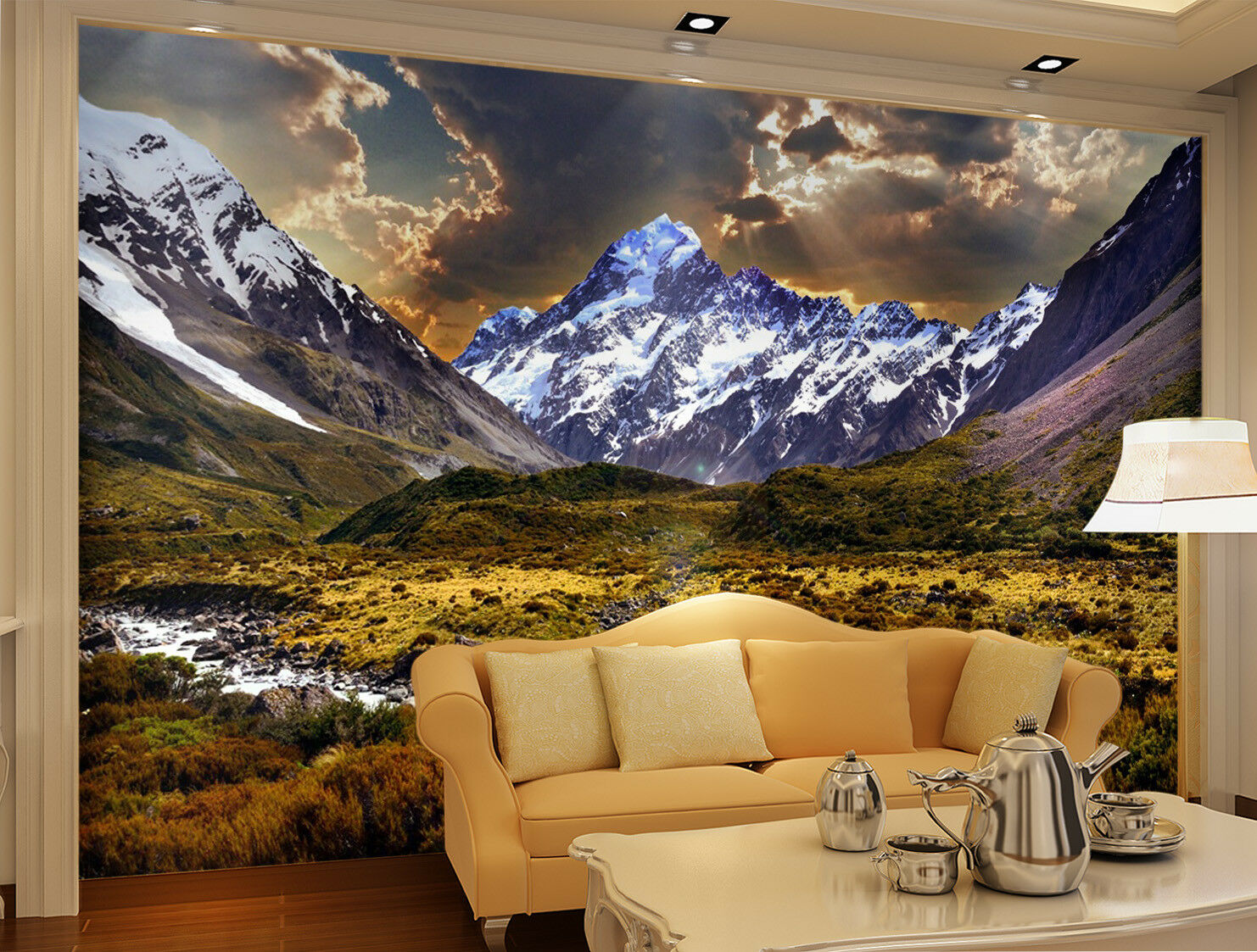 3D Dusk Prairie Hills 8 Wall Paper Murals Wall Print Wall Wallpaper Mural AU Kya