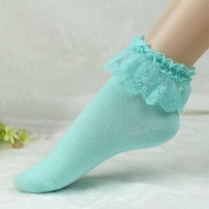 Blue-or-White-Ruffle-Lace-Top-Ladies-Ankle-Socks-Sexy-Woman-039-s-Lingerie-P2011