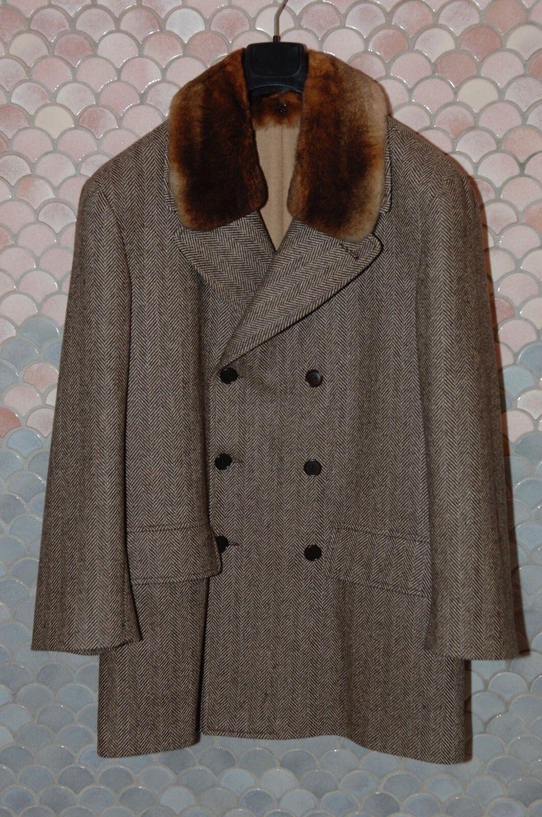 KITON Herringbone Short Coat, 100% Cashmere, EU 52/US 42R, Never worn, Mint