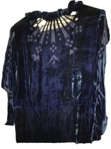 Vintage 1930s Blue Velvet Dress