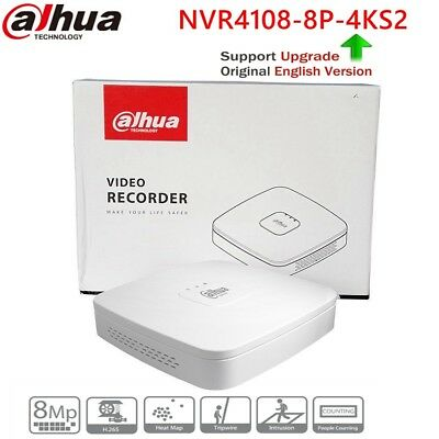Dahua NVR4108-8P-4KS2 8CH Smart 1U 8PoE 4K/&H.265 Lite Network Video Recorder