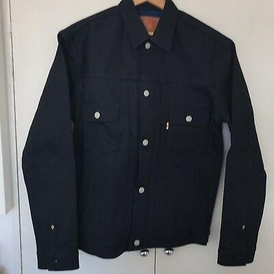 ** Vendita ** Momotaro Jeans Giappone Cimosa Giacca Di Jeans Indaco Doubleface Nuovo Con Etichetta-mostra Il Titolo Originale Squisita (In) Esecuzione