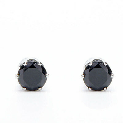 Exquisite Hot Mens Women Clear/Black Crystal Magnet Earrings Stud Jewelry  TOCA