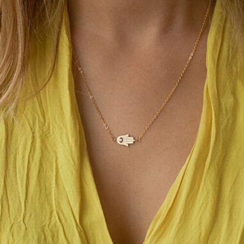 Hamsa main de Dieu Fatima mauvais oeil charme pendentif collier juif *FR