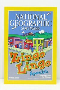 National Geographic Software - Zingo Lingo Spanish Language Game (IBM PC, 1995)