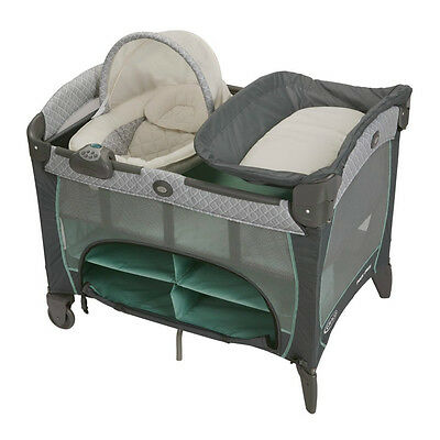 Graco Pack 'N Play PLAYPEN, Canopy Infant Napperstation DLX PLAY YARD, Manor