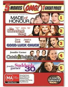 5-Movie-Dvd-Pack-Catch-And-Release-Good-Luck-Chuck-Made-Of-Honour