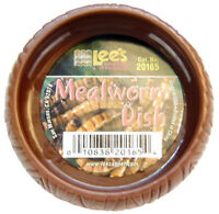 LEE'S WORM DISH MEAL LIZARDS DRAGONS REPTILE FOR FOOD MEALWORM. FREE SHIP TO USA
