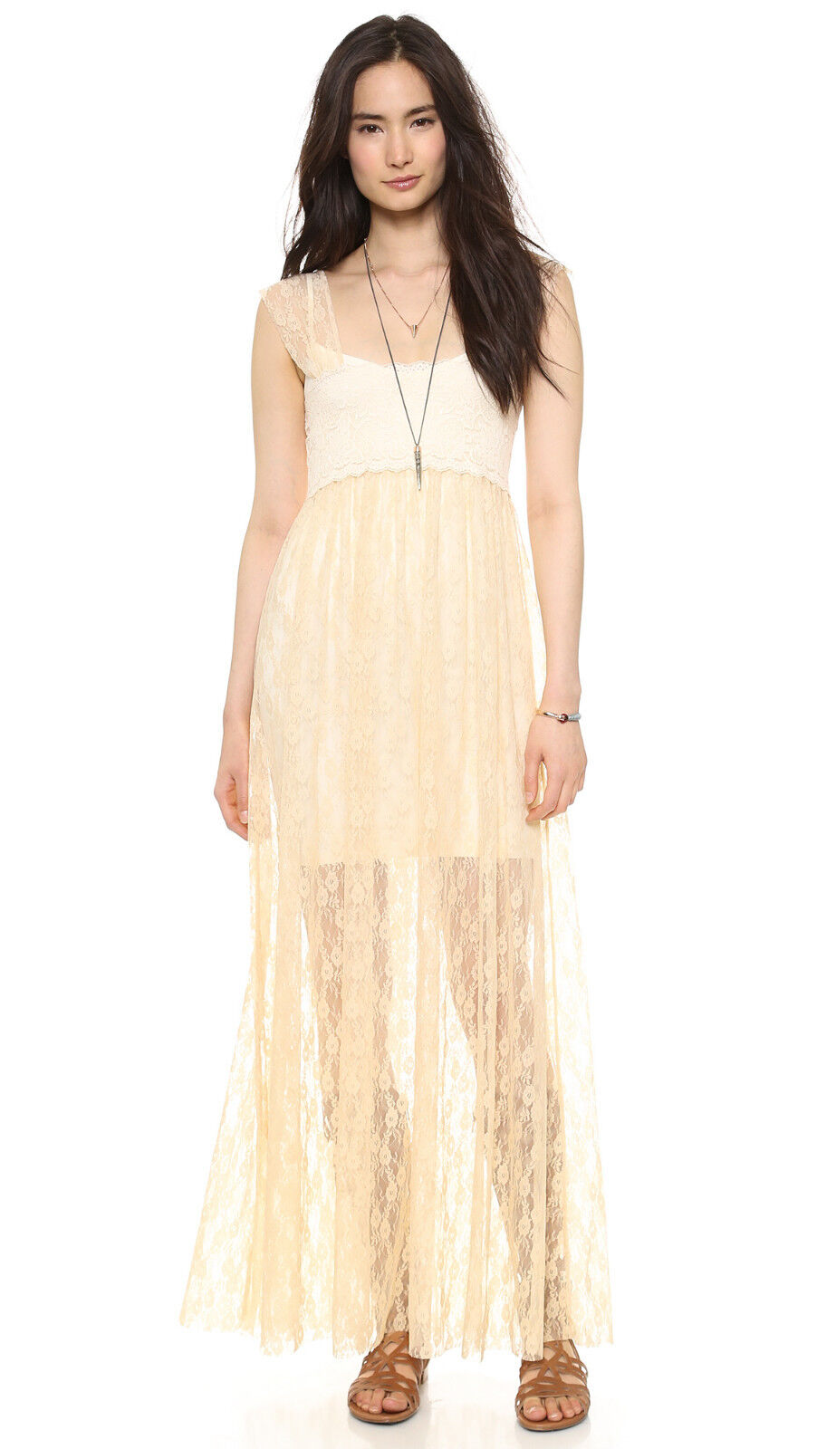 NWT Free People Romance in The Air Slip dress in Tea
