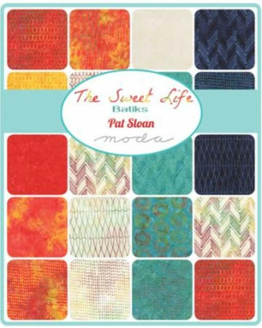 Moda Sweet Life Batiks Charm Pack 5 in Sq 40 Pieces 100% Cotton Quilting Fabric
