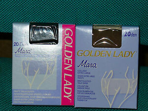 10-paia-collant-Tg-XL-GOLDEN-LADY-mod-MARA-EXTRA-LARGE-20-den-conformato-NERO