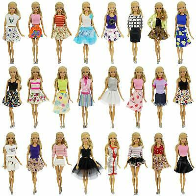 ZITA ELEMENT 3 Sets Fashion 28 Inch Girl Doll Clothes Dress Outfits Quality