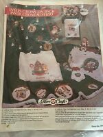 Fibre Craft 1996 Campbell Kids Christmas Transfers Iron Ons