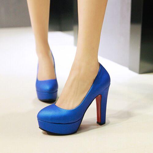 Womens Fashion High Heels Platform Round Toe Pumps Shoes AU Size 2.5--10 C303