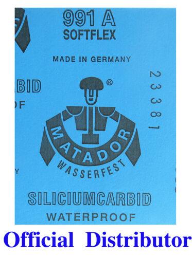 "GERMANY FINE SANDPAPER 30 Sheets  COMBO 1000//1500//2000 Grit  SIZE 3/"" x 5.5/"""