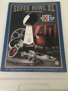 SuperBowl XL 40th Anniversary NFL Game Program 2006 Steelers vs Seahawks DETROIT