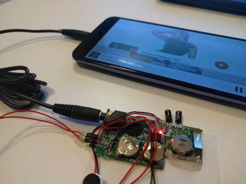 120s w LINE IN port LIGHT SENSOR record device voice module music box sound chip