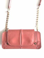 Chloe Patent Leather & Gold Accent Strap Shoulder Bag