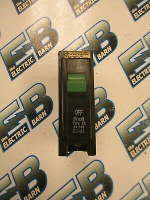 WARRANTY Bryant BR115 1 POLE 15 AMP 120 VOLT PLUG IN Circuit Breaker