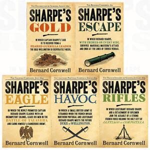 Bernard-Cornwell-The-Sharpe-Series-6-to-10-Books-Collection-Set-Havoc-Gold-NEW