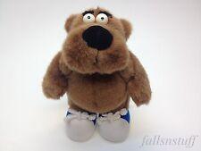 "Brown Bear SID Plush Blue Sneakers Shoes My Favorite Company Teddy 1998 10"" LOOK"