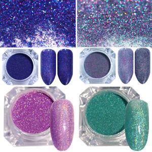 4-Boxen-Holografisch-Nagel-Pulver-Nail-Powder-Nagel-Kunst-Puder-Glitter-Pigment