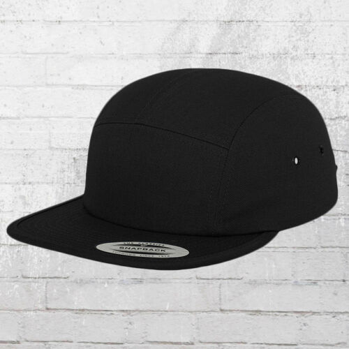 By Yupoong FLEXFIT jockey CAP 5 PANEL NERO BERRETTO CAPPUCCIO CAPPELLO CAPPA Basecap ha