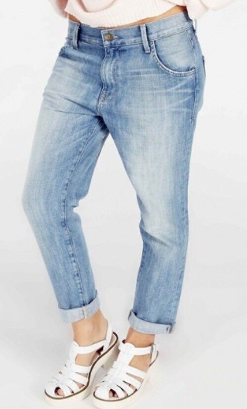 Wildfox Marissa Boyfriend Fit Jeans Cropped Lilt Light Wash Size 29