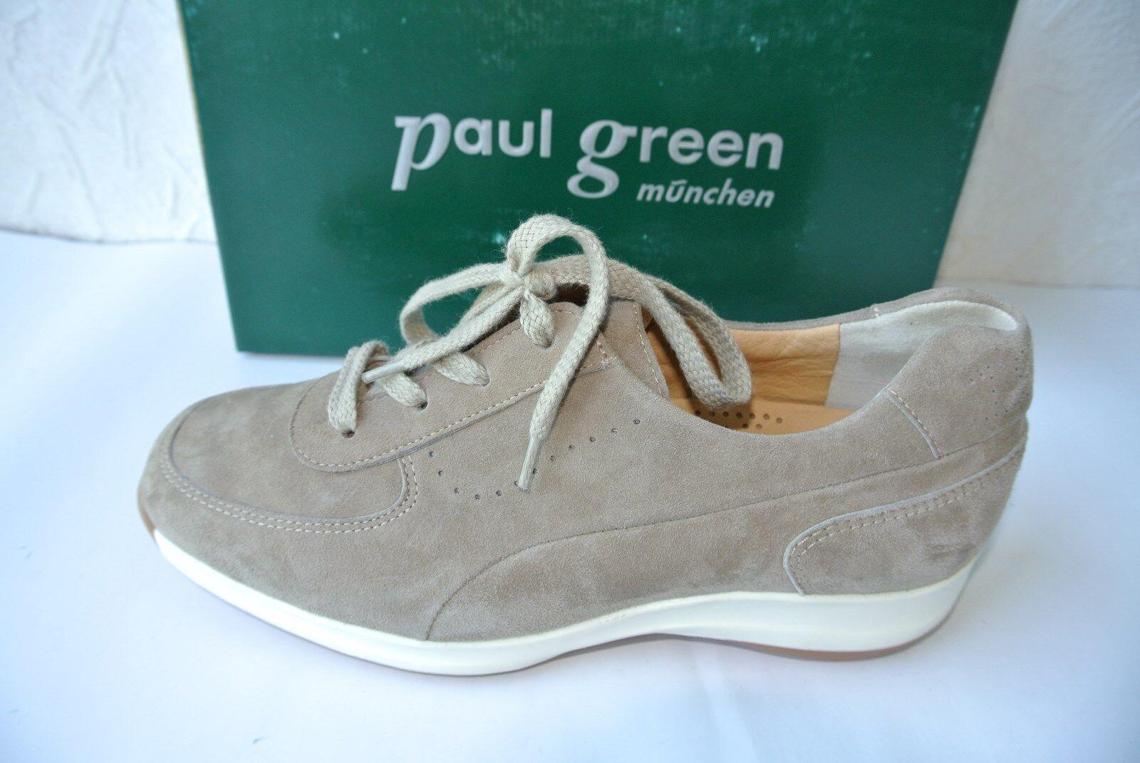 Paul Grün   Damen Schnürschuhe  Sandfarbig  Qualität  Gr.  37 -4,5