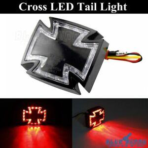 Universal-Motorcycle-Cross-Maltese-LED-Taillight-Rear-Brake-Stop-Lamp-For-Harley