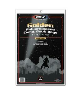 500 BCW GOLDEN GOLD AGE THICK COMIC BAGS AND BOARDS