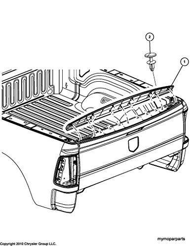 Chrysler Oem Bed Tailgate Top Molding Spoiler 55372052ah For Sale