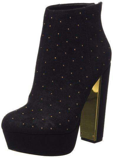 Zapatos especiales con descuento  110 NEW MISS KG SIZE 3 6 SMOCK BLACK F SUEDE HIGH HEEL PLATFORM ANKLE BOOTS