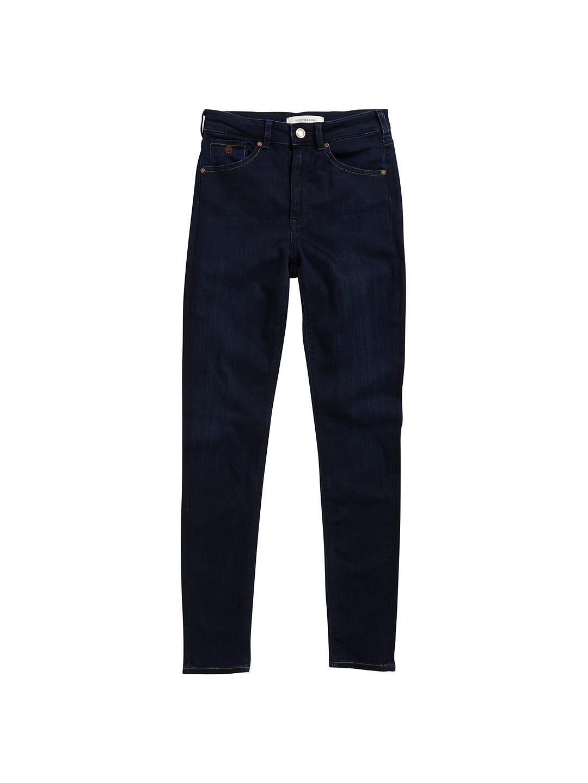 Maison Scotch Haute High Rise Straight Leg Jean, Dark BNWT SIze W27 L32 RRP