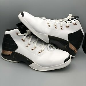 9604190c2d2 NIKE AIR JORDAN XVII 17 + RETRO GATOR WHITE BLACK COPPER COIN BLUE ...