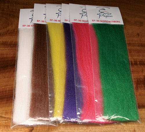 EP 3D MINNOW FIBERS  16 COLOR COMBO -- Fly Tying Lot