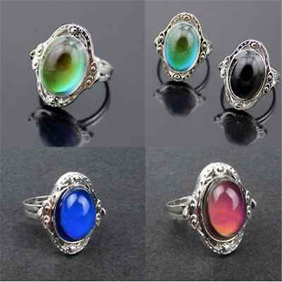Fun Mood Ring Changing Color Fashion Temperature Emotion Ring Adjustable TR16