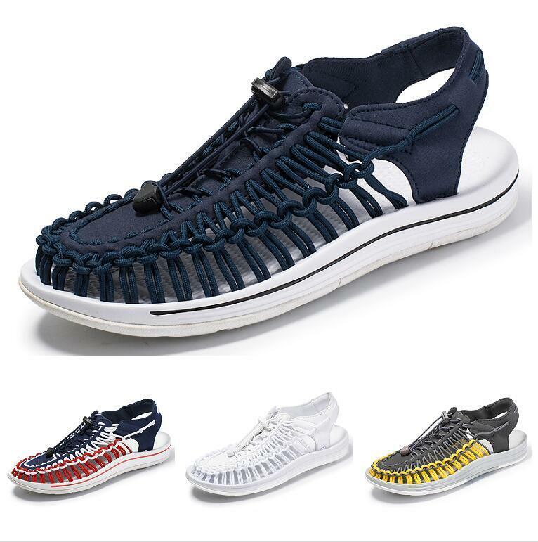 Zapatos Hombre Sandalias Romanas Casuals Ocio Playa de arena malla tejida comodidad puntera estrecha