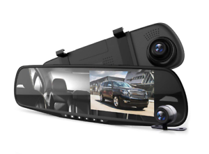 Pyle-Dash-Cam-Rearview-Mirror-4-3-034-DVR-Monitor-Rear-View-Dual-Camera-PLCMDVR49